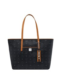 Mcm Anya Medium Shopper Tote Bag Black