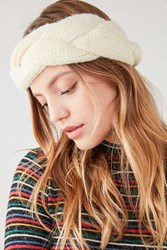 Urban Outfitters Braided Knit Headband Ivory