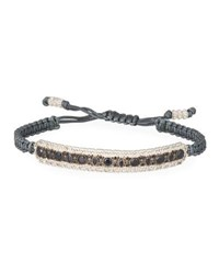 Armenta New World Pull Cord Bracelet With Black Sapphires Silver