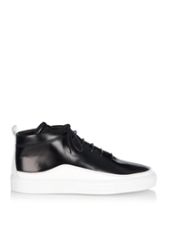 Public School Braeburn High Top Leather Trainers