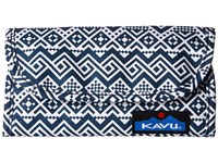 Kavu Big Spender Navy Quilt Wallet Handbags Blue