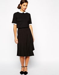 The Laden Showroom X Even Vintage Asymmetric Pleat Midi Skirt Black