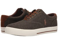 Polo Ralph Lauren Vaughn Brown Vintage Burlap Sport Suede Men's Lace Up Casual Shoes