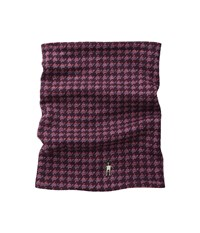 Smartwool Nts Mid Reversible Pattern Neck Gaitor Aubergine Heather Hibiscus Heather Scarves Purple