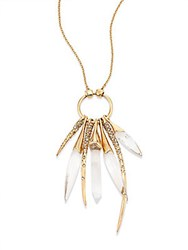 Alexis Bittar Lucite Rock Crystal Burst Pendant Gold