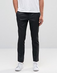 Selected Homme Skinny Fit Textured Trousers With Stretch Black