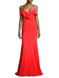 Jay Godfrey Christie Floor Length Dress Coral Red
