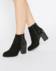 Oasis Maddie Snake Patched Boot Black