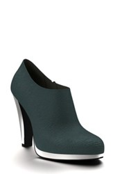 Shoes Of Prey Genuine Calf Hair Ankle Boot Women Blue