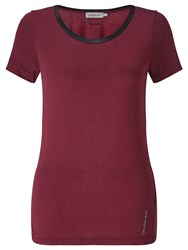 Calvin Klein Lacey T Shirt Tawny Port