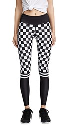 Chrldr Checker Leggings Black