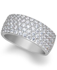 Arabella Sterling Silver Ring Swarovski Zirconia Pave Band White