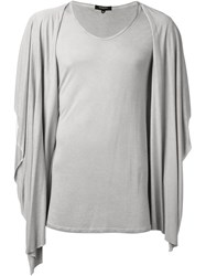 Unconditional Hooded Draped T Shirt Nude And Neutrals