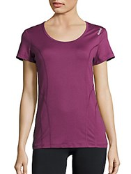 Reebok Dynamic Pop Short Sleeve T Shirt Dark Purple