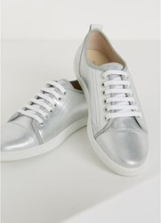 Mint Velvet Edie Silver Lace Up Trainer Silver
