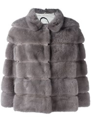 Simonetta Ravizza Fur Jacket Grey