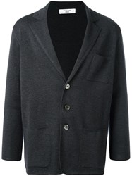 Fashion Clinic Three Button Cardigan Grey