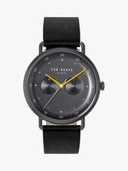 Ted Baker Te50520003 'S George Leather Strap Watch Black