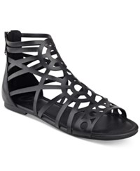 G By Guess Letsbe Flat Gladiator Sandals Women's Shoes Black