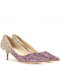 Jimmy Choo Aza Glitter Pumps Gold