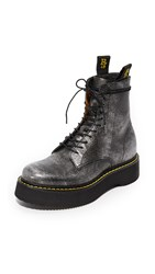 R 13 R13 Combat Boots Silver