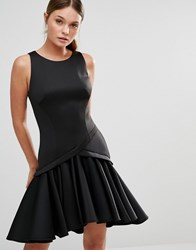 Coast Crysta Dress With Rufflle Hem Black