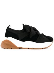 Twin Set Bow Wrapped Chunky Sole Sneakers Black