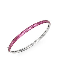 Effy Final Call Ruby And 14K White Gold Bangle Bracelet