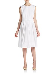 Pauw Belted Cotton Dress White