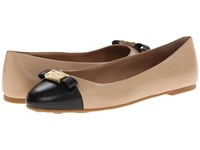 Marc By Marc Jacobs Tuxedo Logo Plaque Ballerina Nude Black1 Women's Slip On Shoes Beige