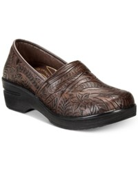 Easy Street Shoes Works By Lyndee Slip On Clogs Women's Brown Tool