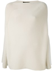 Calvin Klein Collection Oversized Ribbed Sweater Women Cashmere M Nude Neutrals