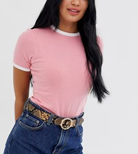 Glamorous Exclusive Snakeskin Waist And Hip Jeans Belt With Gold Bamboo Buckle Beige