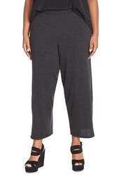 Plus Size Women's Eileen Fisher Merino Jersey Crop Pants