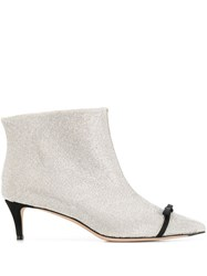 Marco De Vincenzo Studded Ankle Boots Silver