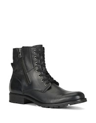 Marc New York Vesey Fleece Lined Leather Hiking Boots Black