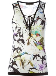 Roberto Cavalli Bird Print Tank Top Multicolour