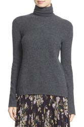 A.L.C. 'Pippa' Surplice Back Wool And Cashmere Turtleneck Sweater Gray