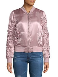 Candc California Long Sleeve Bomber Jacket Pale Mauve