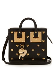 Sophie Hulme Albion Box Mini Leather Cross Body Bag Black Gold