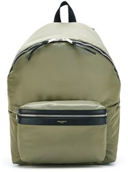 Saint Laurent 'City' Backpack Green