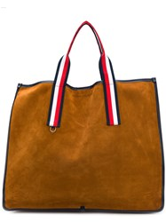 Tommy Hilfiger Striped Handle Tote Brown
