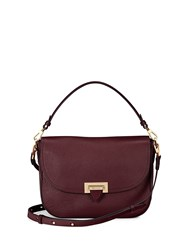 Aspinal Of London Letterbox Slouchy Saddle Bag Red
