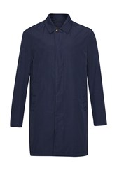 French Connection Men's Winter Rain Mac Coat Blue