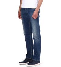 Armani Jeans J12 Regular Fit Straight Jeans Blue