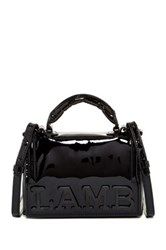 L.A.M.B. Inna Patent Leather Crossbody Black