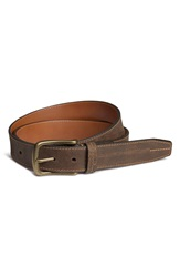 Trask 'Logan' Bison Leather Belt Walnut