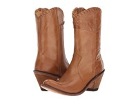 Old West Boots Crisscross Stitch Boot Tan Canyon Cowboy Brown