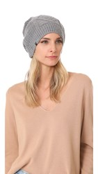 Plush Cable Knit Fleece Lined Beanie Heather Grey