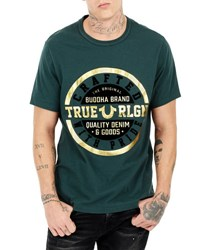 True Religion Crafted Graphic Short Sleeve T Shirt 3000 Hunter Green